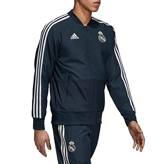 adidas Real Madrid- Chaqueta oficial del real madrid para hombre  Amazon.es  fb889b175fabb