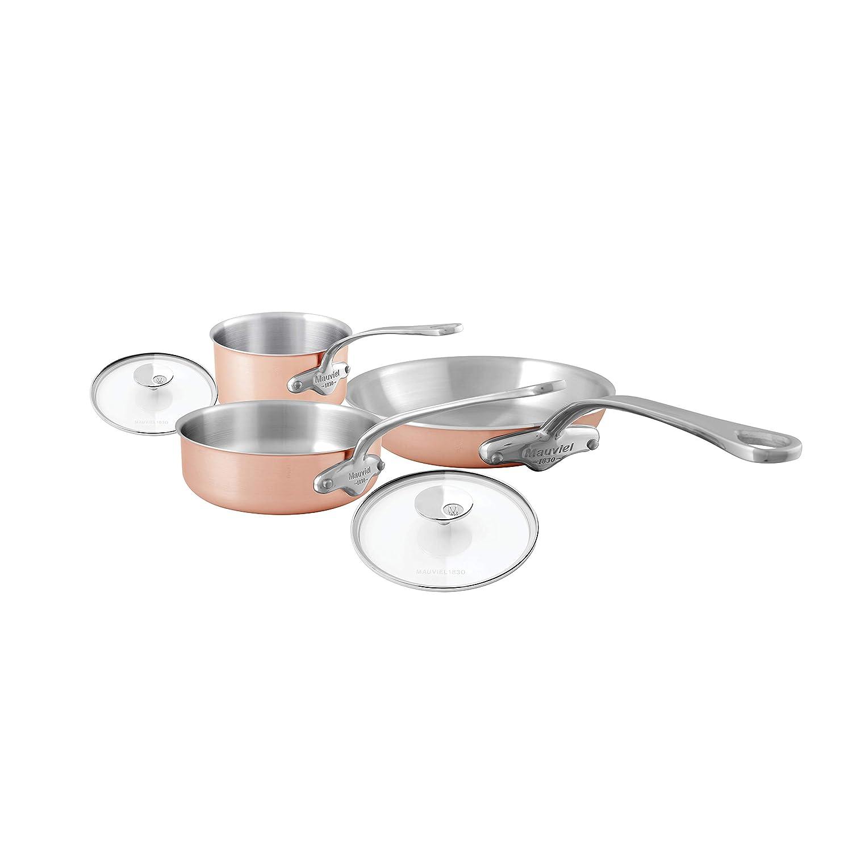 Mauviel 7700.05 TriPly - Juego de 5 ollas de cobre (metal y ...