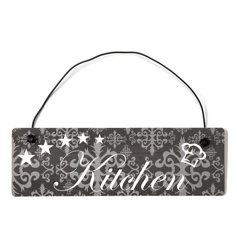 Deko Shabby Chic Cartel Kitchen Vintage placa para puerta ...