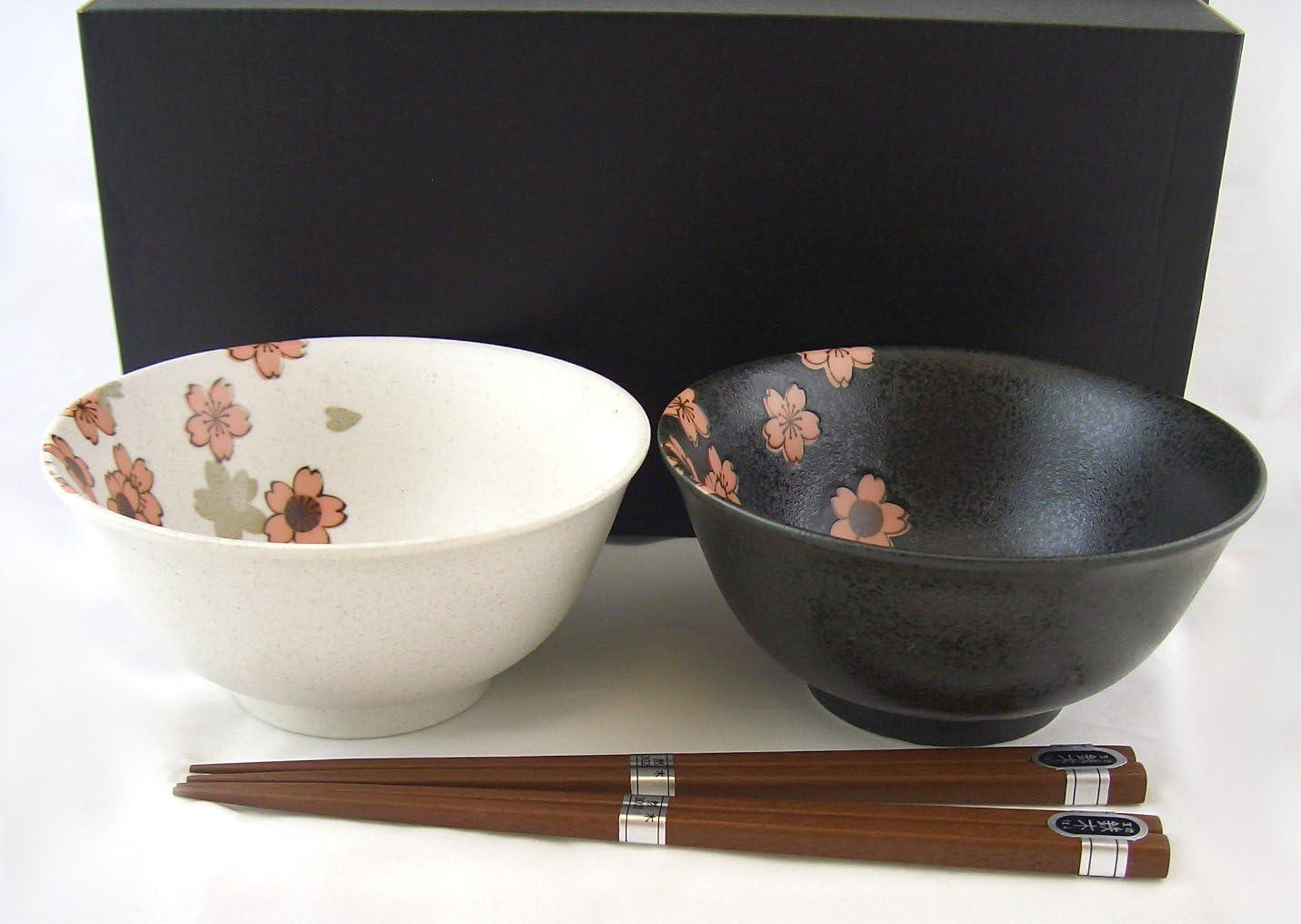 Suppenschalen Geschenk-Set SAKURA NISHU Japan Porzellan Suppenschüssel Ø 14,5 cm
