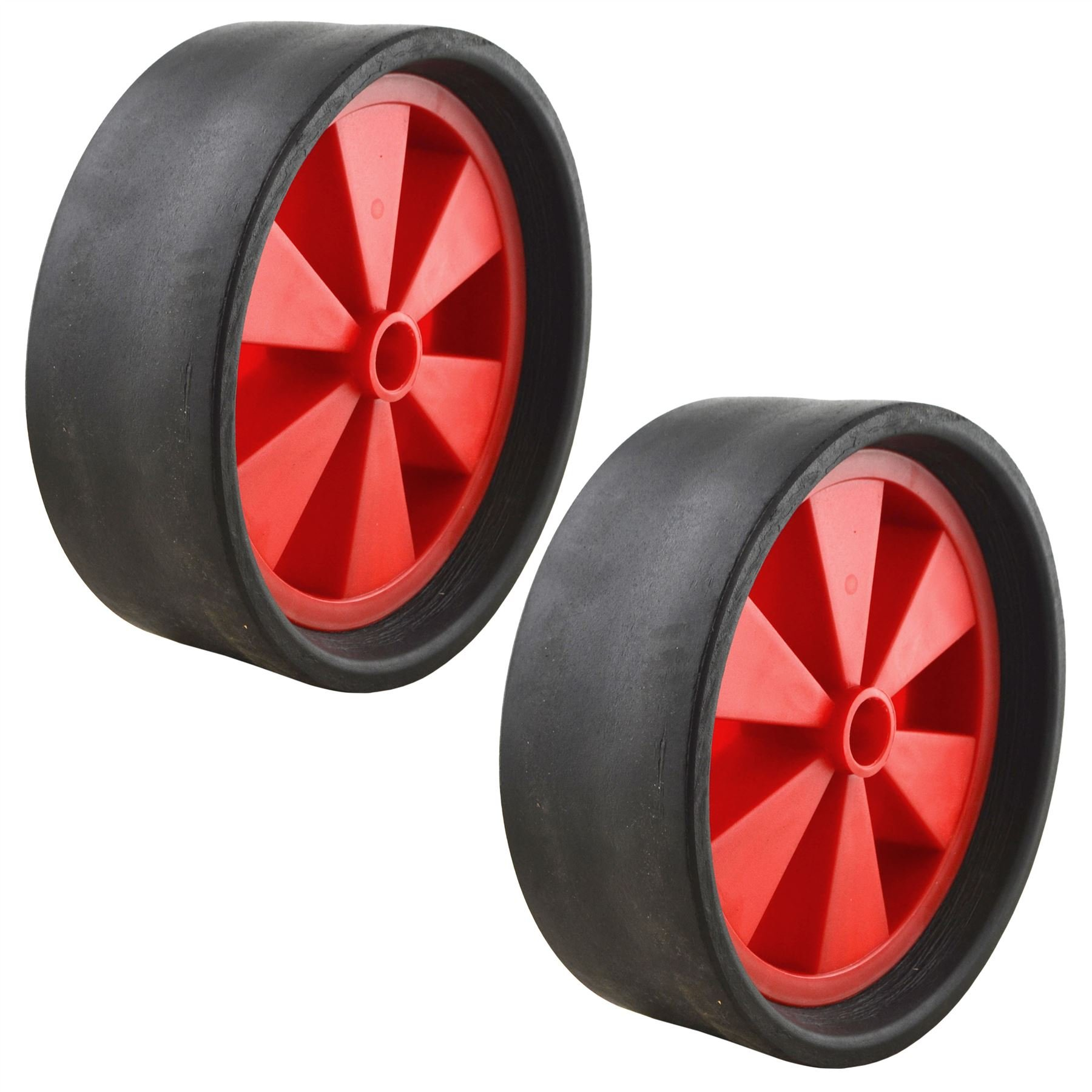 """AB Tools Dinghy Boat Launch Trolley Wheels 10"""" Sand Hopper Solid Rubber Tyre x 2 (Pair)"""