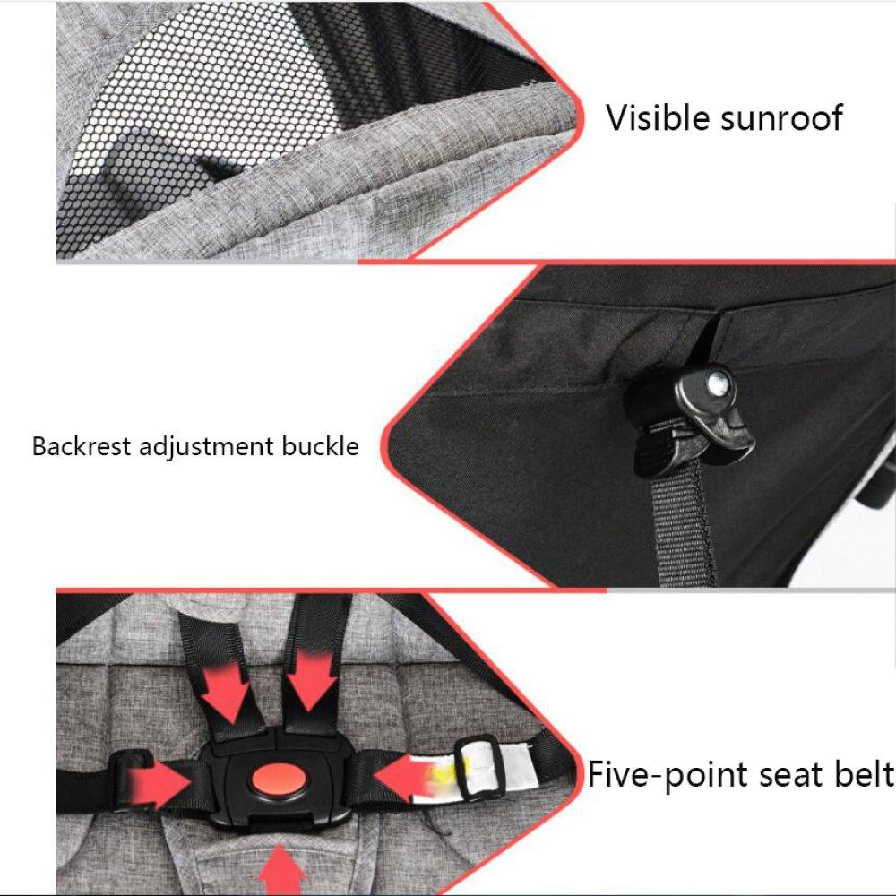 Amazon.com: LZTET Baby Stroller Ultra-Light Portable Folding Baby Cart Summer Breathable Net Umbrella Car,E: Garden & Outdoor