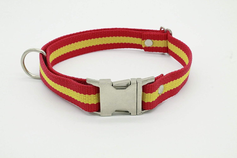 MD-10 Kit Collar+Correa de Perro Bandera de España para Perros: Amazon.es: Productos para mascotas