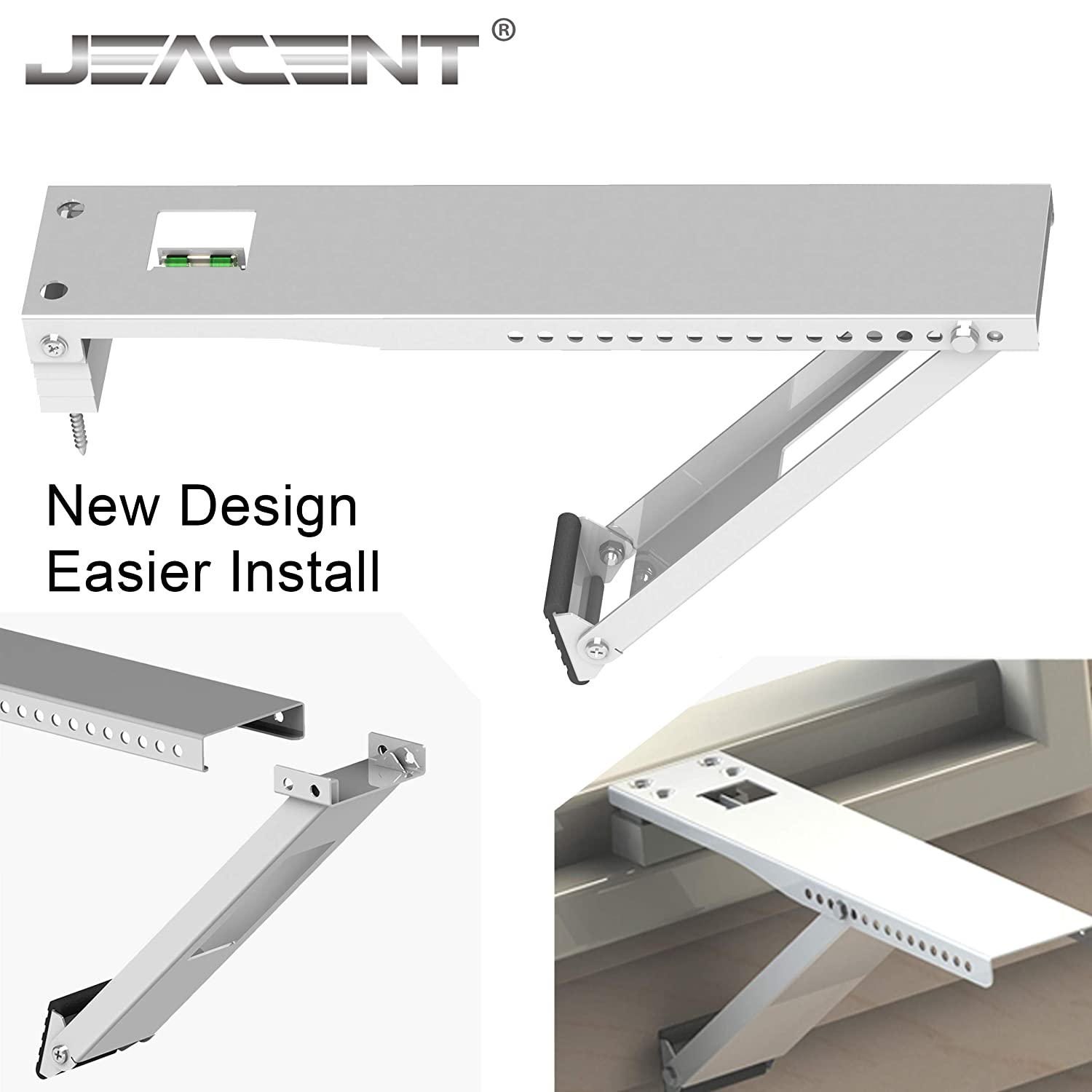 Amazon.com: Jeacent Window Air Conditioner Brackets, Universal AC Support Bracket, Heavy Duty - Up to 165 lbs 17\u201d Arm for A/C Units: Home \u0026 Kitchen