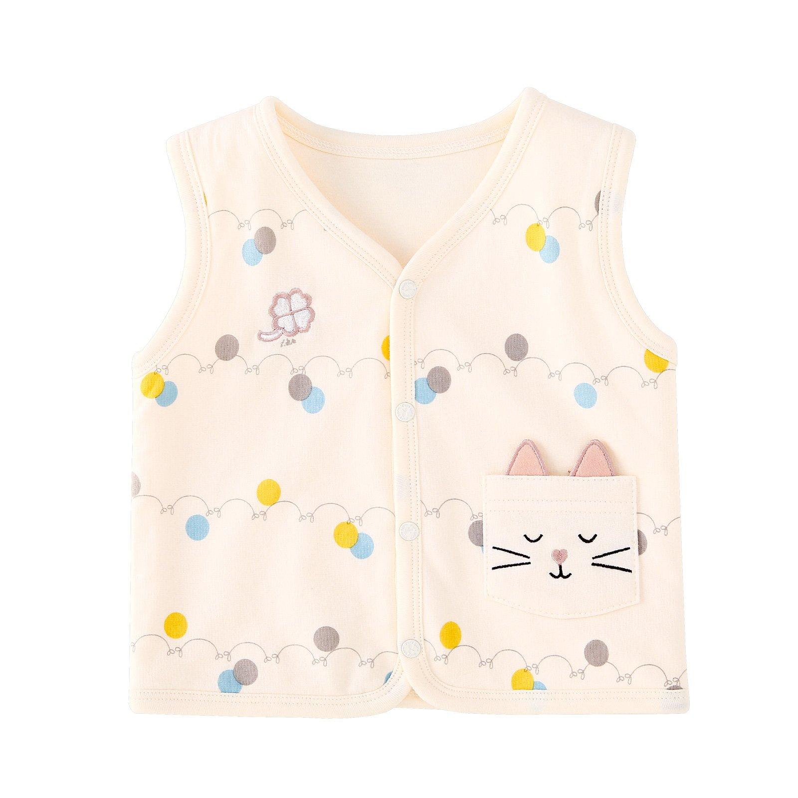 pureborn Baby Girls Boys Sleeveless Vests Cotton