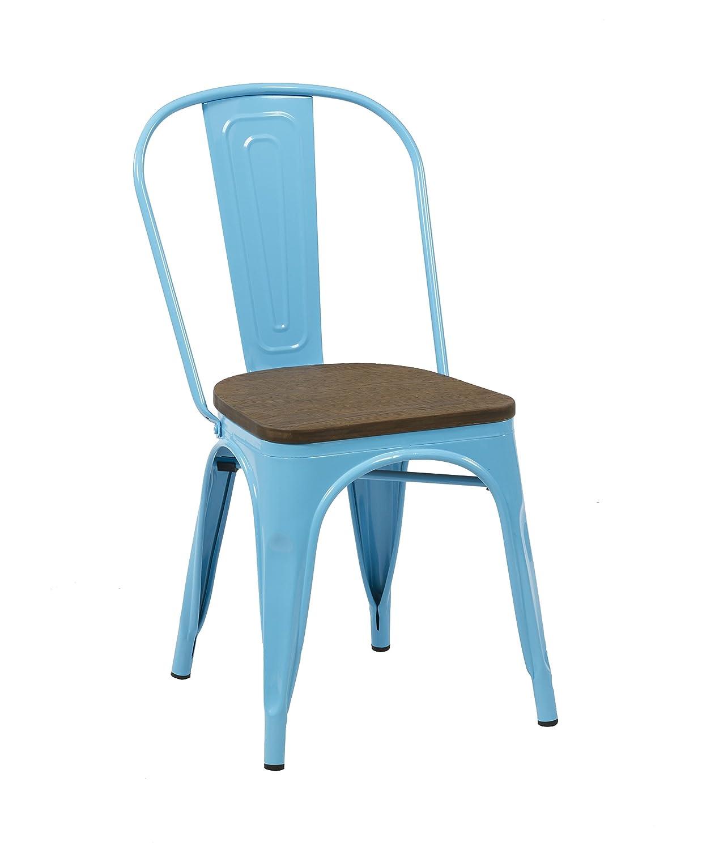 Birlea Rockafella Chair, Metal, Black, 54 x 44 x 84 cm, Set of 2 Birlea Furniture ROCCH2BLK