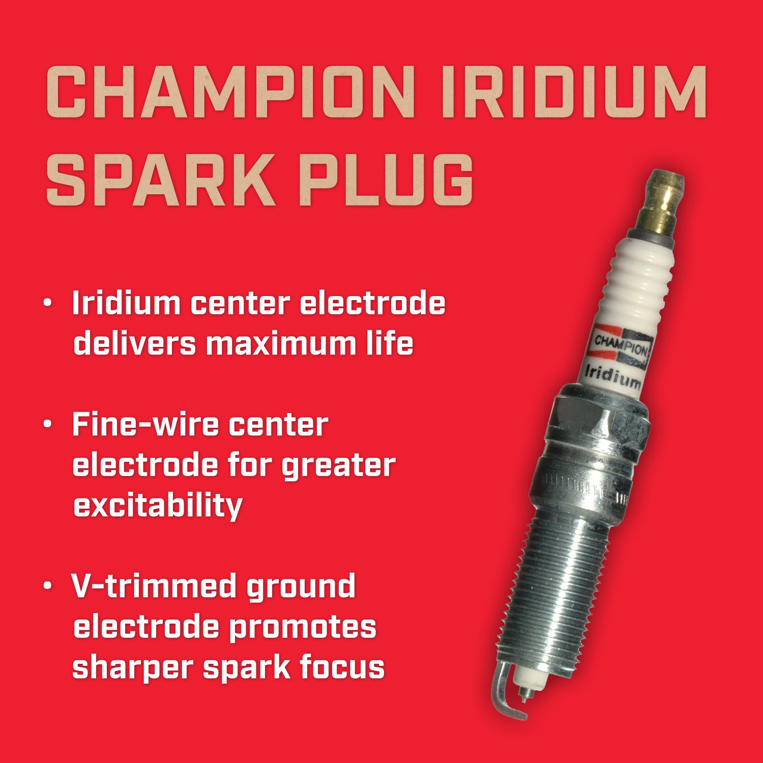 Amazon.com: Champion RE14WMPB4 (9403) Iridium Replacement Spark Plug, (Pack of 1): Automotive