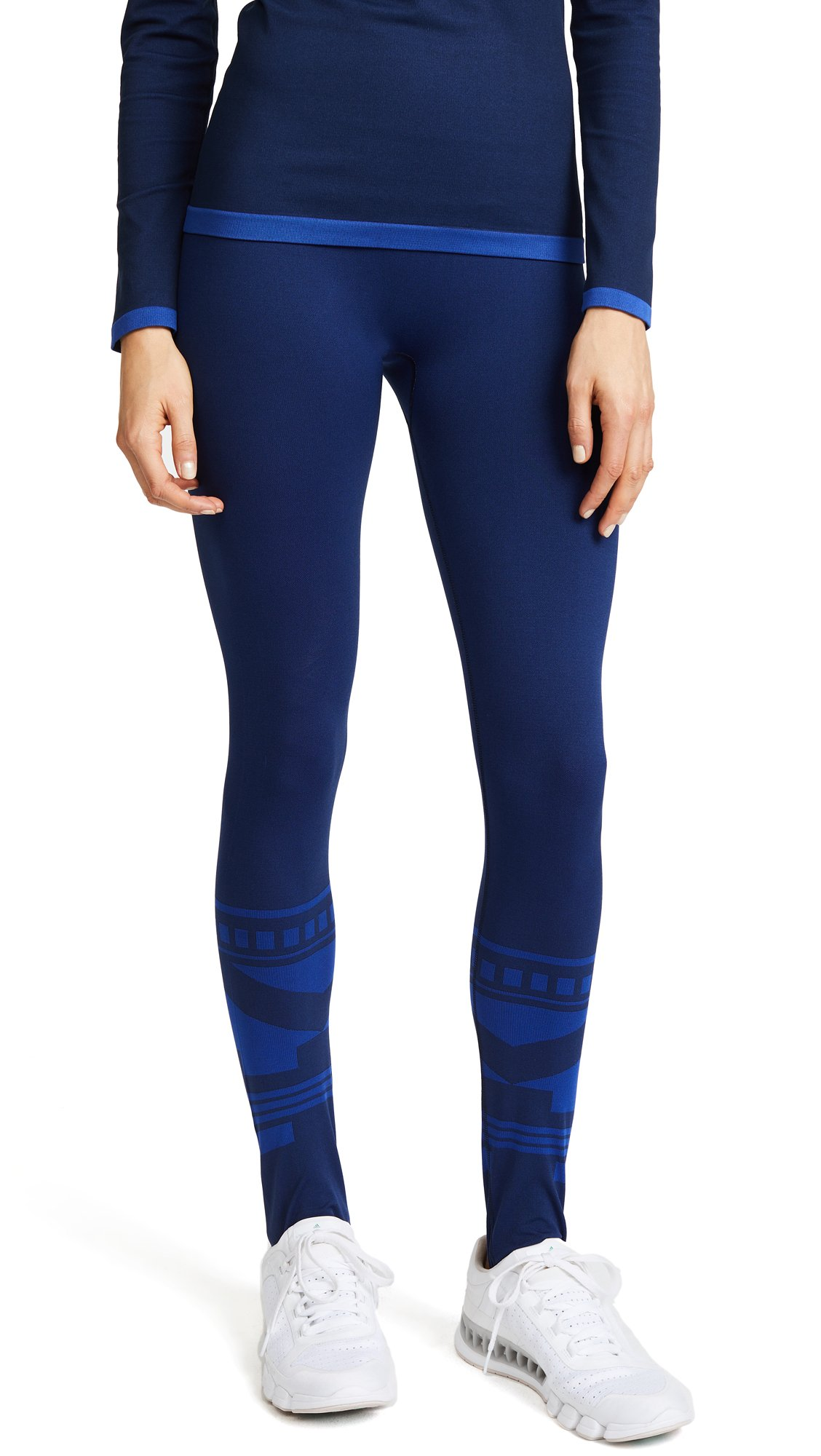 Tory Sport Women's Seamless Ski Leggings, Tory Navy Fairisle, Small by Tory Sport