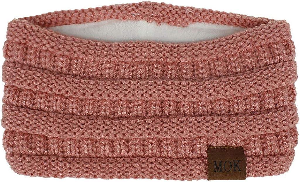 Headbands for Women,Gibobby Winter Ear Warmer Headband Warm Winter Cable Knit Soft Stretchy Thick Fuzzy Head Wrap
