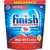 Finish All in One Max Lemon Dishwasher, 90 Tablets