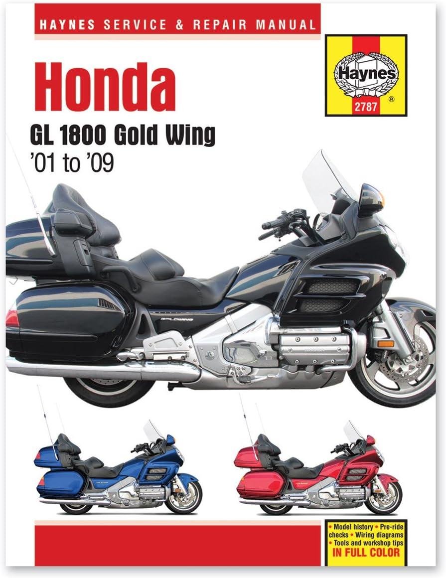 2009 honda goldwing wiring diagram amazon com haynes repair manual for honda gl 1800 gold wing  2001  haynes repair manual for honda gl 1800