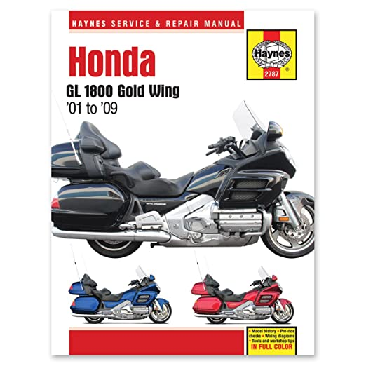 amazon com haynes honda gold wing shop manual 2787 automotive rh amazon com 2007 goldwing owners manual 2008 honda goldwing service manual