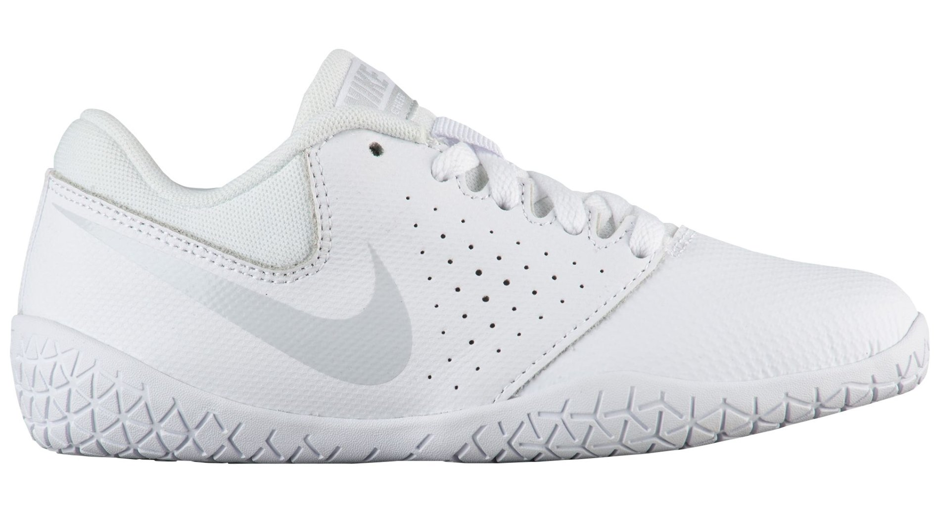 Nike Girl's Youth Cheer Sideline IV Cheerleading Shoes (1 M US Little Kid, White/Pure Platinum/White)