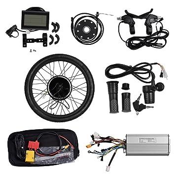 """Vogvigo 26"""" Bicicleta eléctrica Rueda delantera Motocicleta Kit de conversión E-bicicleta Hub con"""