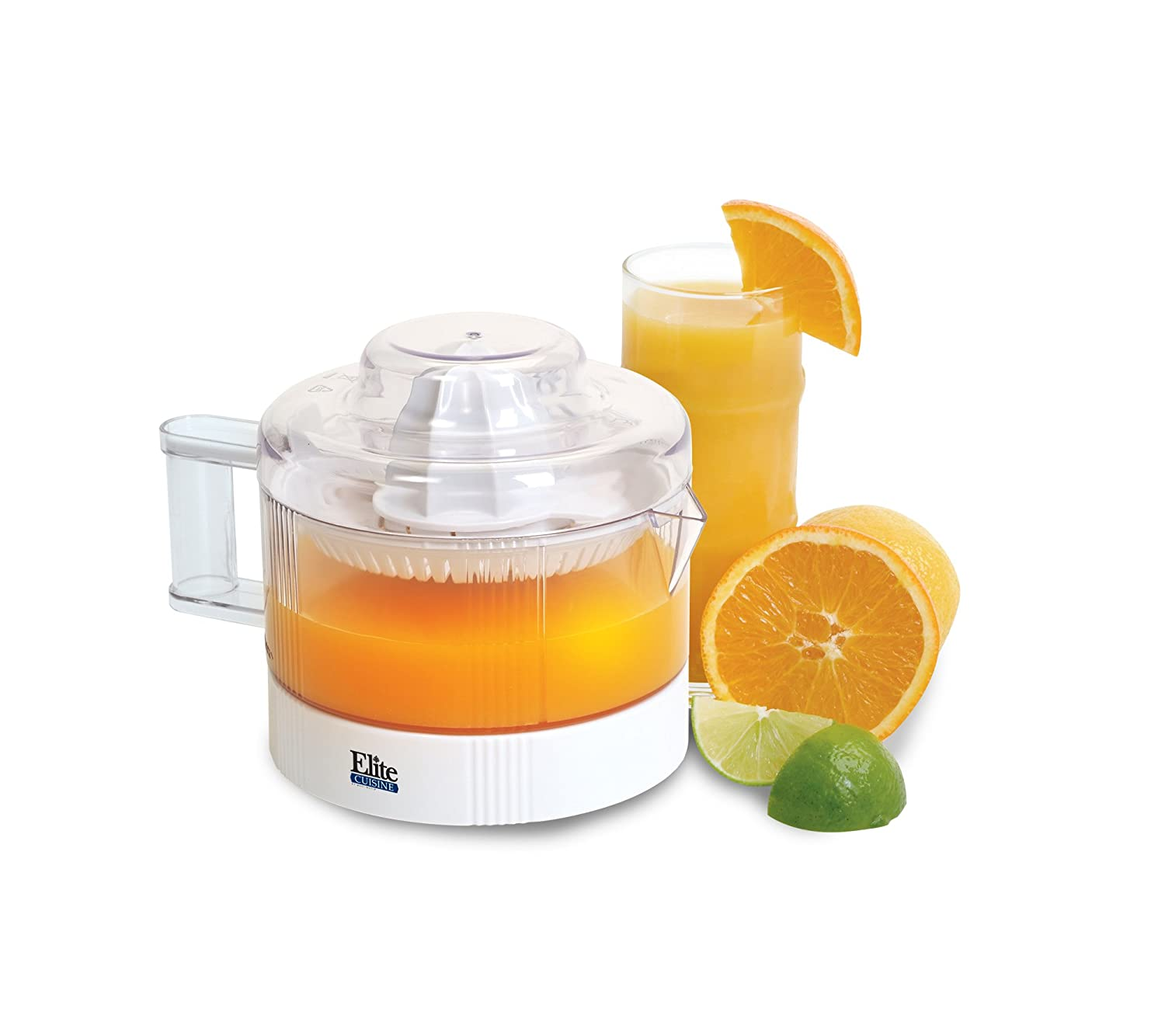 Elite Cuisine ETS-401 Maxi-Matic 20-Ounce Citrus Juicer, White