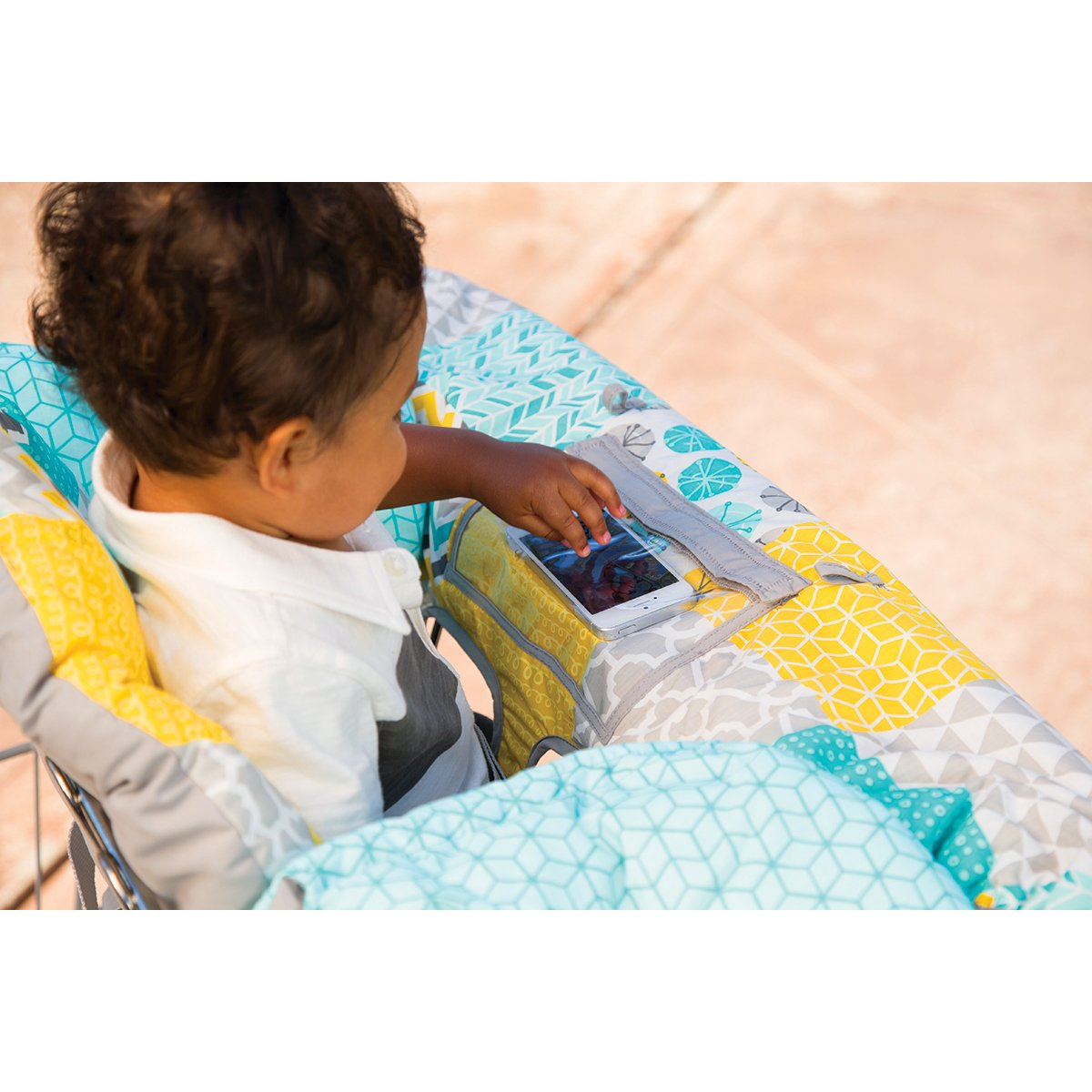 Infantino Unisex Baby Upright Travel Necessities Supportive Cart Cover, Teal by Infantino (Image #5)