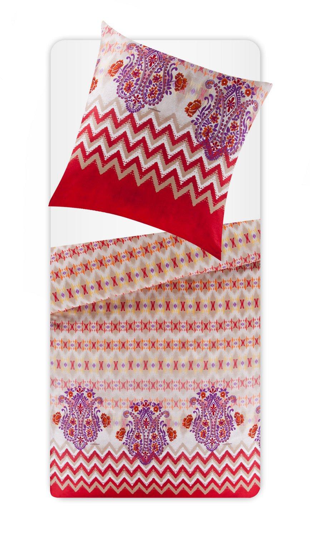 Bassetti – Set von Bettwäsche aus Mako Satin, Typ  Bodhran 80 x 80 cm - 135 x 200 cm Mehrfarbig