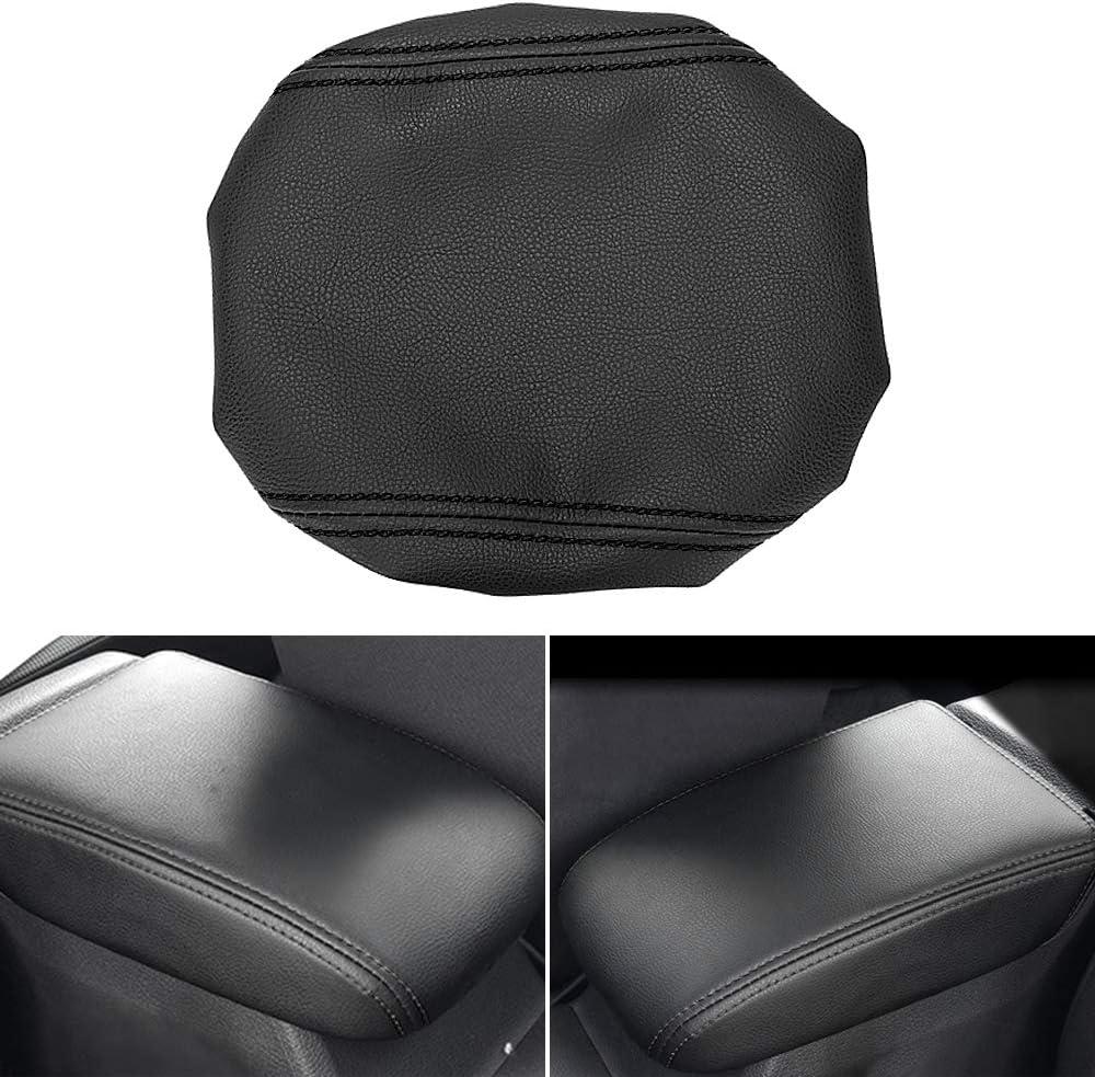 Muchkey Accessorio Decorativo per Interni Senza USB bracciolo consolle Centrale in Pelle PU Bracciolo per Auto per Fiesta 3 MK7 2009-2017