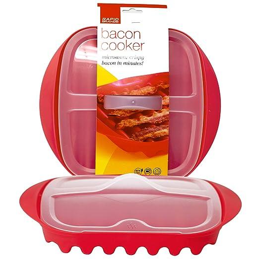 Rapid Bacon - Cocina con tapa para microondas en 4 minutos ...