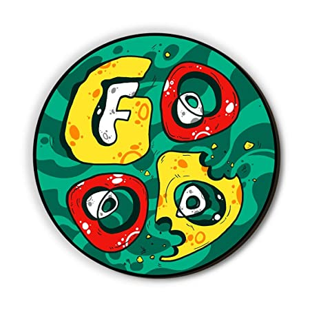 Seven Rays Good Food Fridge Magnet, Green