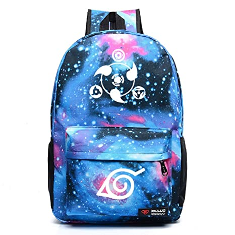 c805461ca06 Image Unavailable. Image not available for. Color  Siawasey Anime Naruto Cosplay  Luminous Bookbag Backpack School Bag(16 ...
