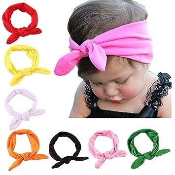 Amazon.com  Baby Girl Cute Turban Headband Head Wrap Knotted Hair ... 11342892bd9