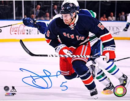 b2378a14f3e Image Unavailable. Image not available for. Color: Dan Girardi New York  Rangers Autographed Signed Horizontal Blue Jersey ...