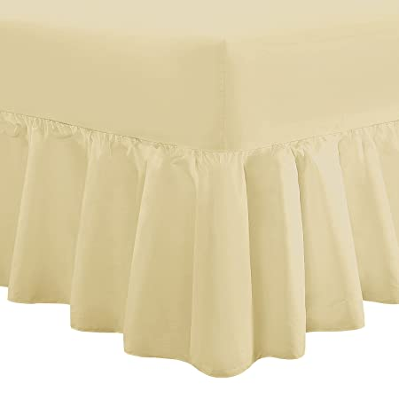 """Luxury 16/"""" Deep Fitted Bottom Sheet Plain 100/%Egyptian Cotton 200 Thread Percale"""