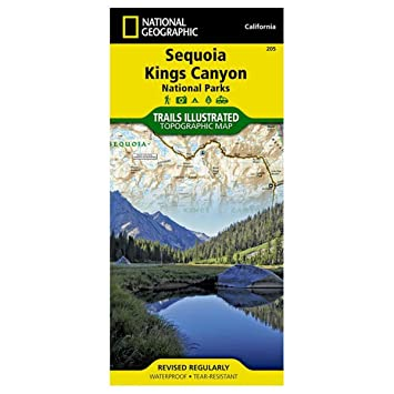 Amazoncom Trails Illustrated Sequoia Kings Canyon National Park
