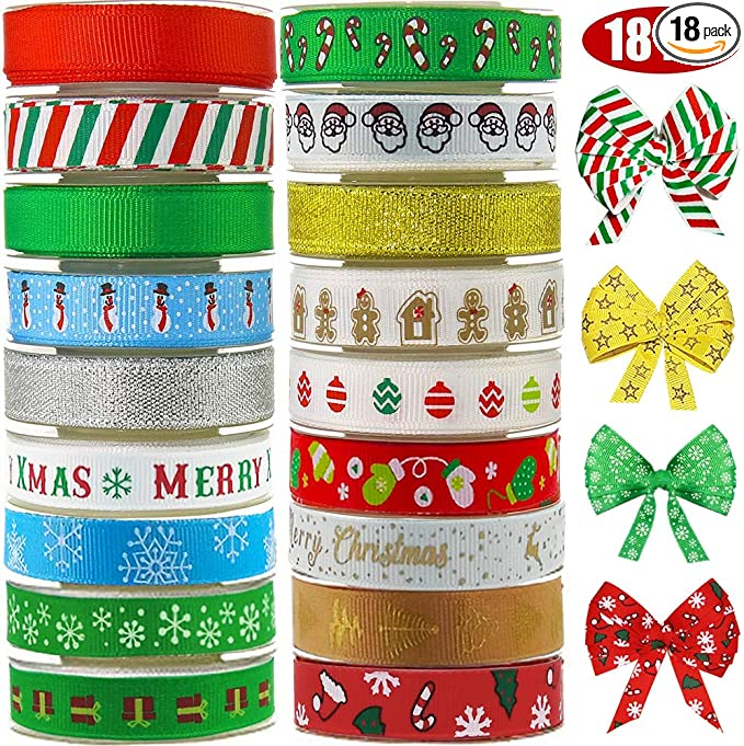 50 Yards of 2.5 Inch Christmas Gingerbread Wired Ribbon Lot