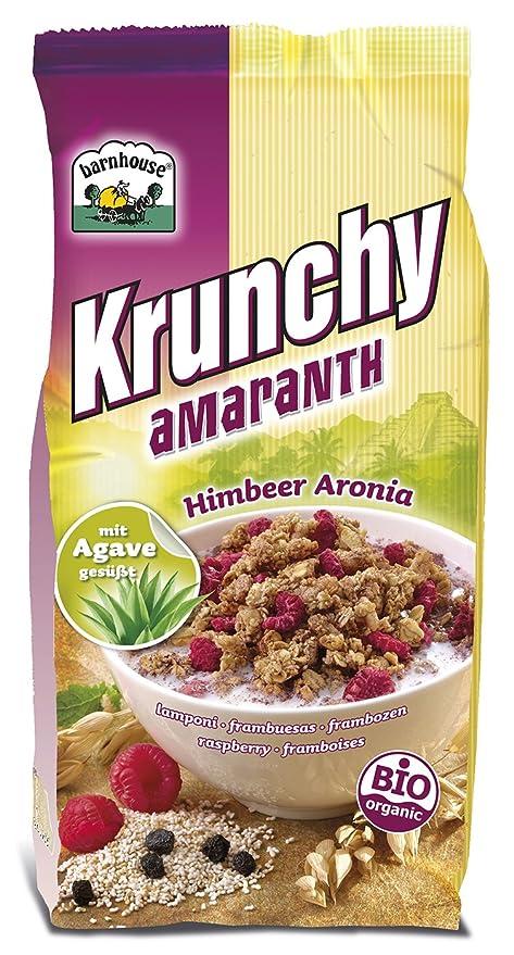 Bar House bio krunchy Amaranto de frambuesa Aronia (1 x 375 gr): Amazon.es: Alimentación y bebidas