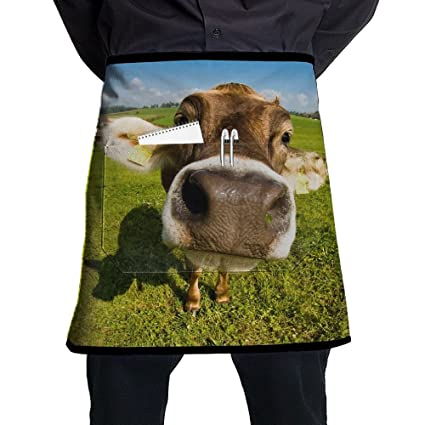 Wallpaper Desktop Cow Men And Women Kitchen 3D Apron For Cooking, Baking,  Crafting,