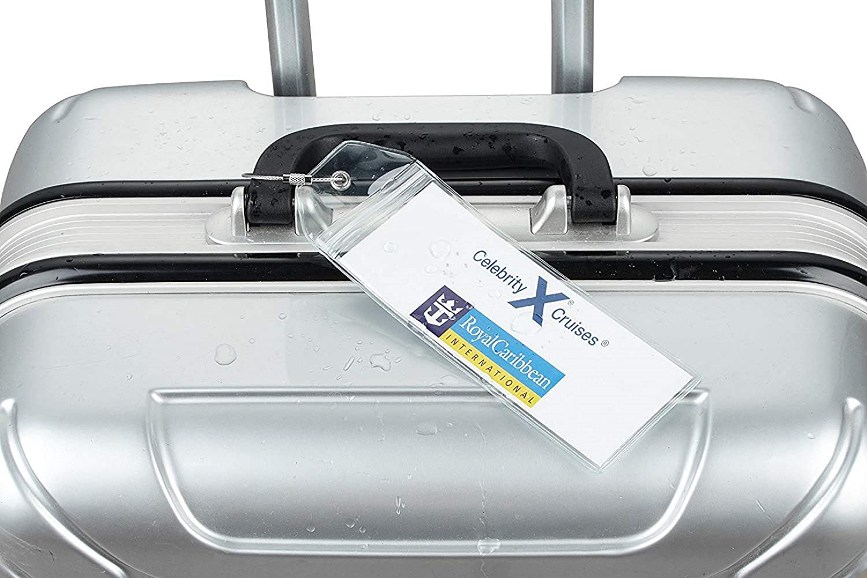 Portatarjetas de equipaje de crucero delgado con cierre de cremallera y lazos de acero (paquete de 8) - Royal Caribbean - Celebrity Cruise: Amazon.es: ...