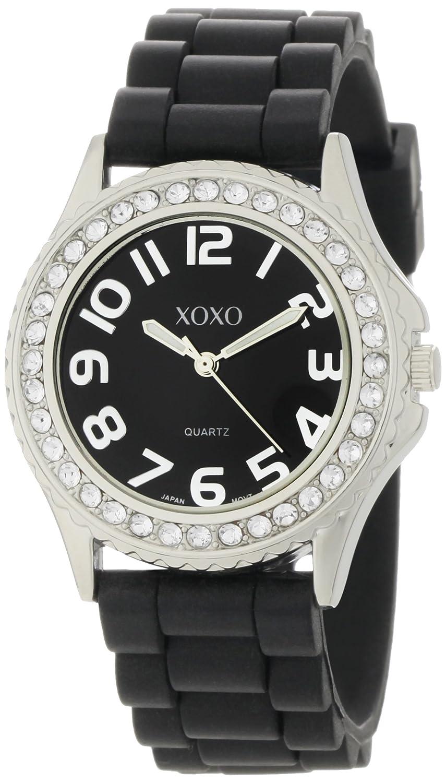 XOXO XO3271 - Reloj de Pulsera Mujer, Silicona, Color Negro: Amazon.es: Relojes