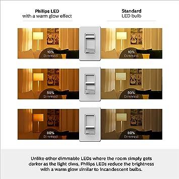 Philips LED Dimmable BR30 Soft White Light Bulb with Warm Glow Effect 650-Lumen, 2700-2200-Kelvin, 9-Watt (65-Watt Equivalent), E26 Base, Frosted, ...