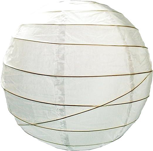 Home Lighting Market 6824 Paralumelanterna di carta, da 60 cm, colore: bianco