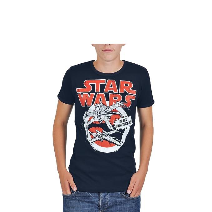 8669cf147 La Guerra de las Galaxias - camiseta X-Wing Rebel Fighters - Azul marino -  XXL  Amazon.es  Ropa y accesorios