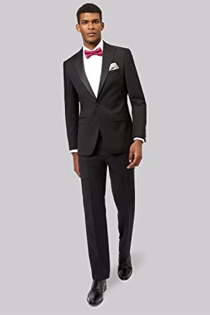 a2efe562c2 MOSS 1851 Men's Black Tailored Fit Performance Dress Tuxedo Jacket 46L
