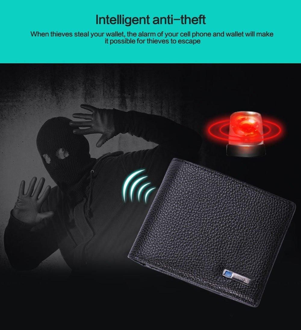 Smart Tracking Wallet, Cuero Negro-Genuino para Hombres ...