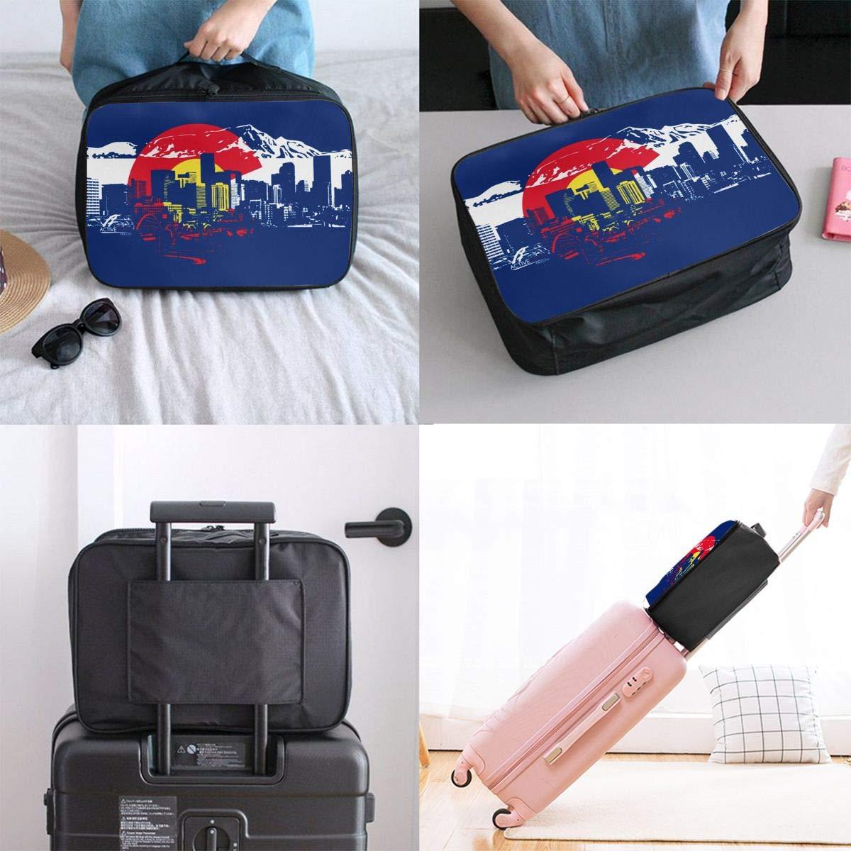 Colorado Flag Travel Bag Portable Luggage Bags Duffle Bag Large Capacity Travel Organizer Bag