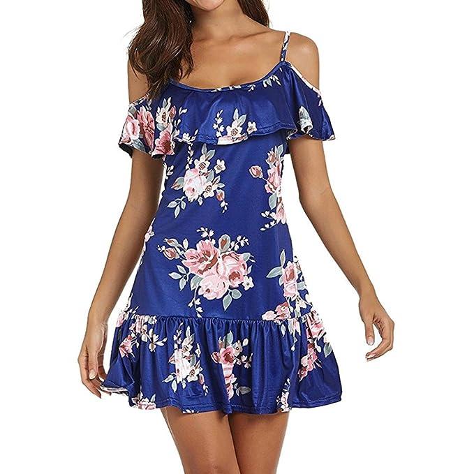 Vestidos de Mujer, ASHOP Vestido Verano 2018 Fuera Hombro frío Casual Ajustados T-Shirt
