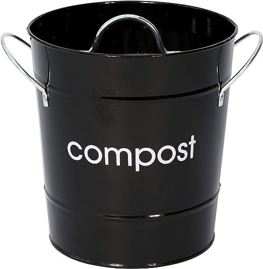 Stylish Design Compost Bin Galvanized Steel Powder Coated Zinc Handles