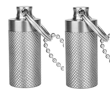 Amazon.com: TISUR Mini Pill Fob, llavero de titanio, soporte ...