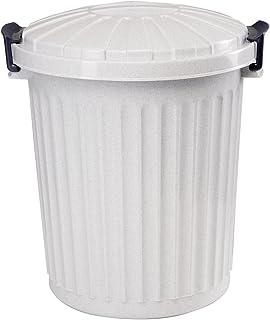 19x20CM 3L de Capacidad Cubo con Tapa para Basura org/ánica con Filtro Navaris Cubo de Metal para Compost Contenedor Estilo Retro para la Cocina