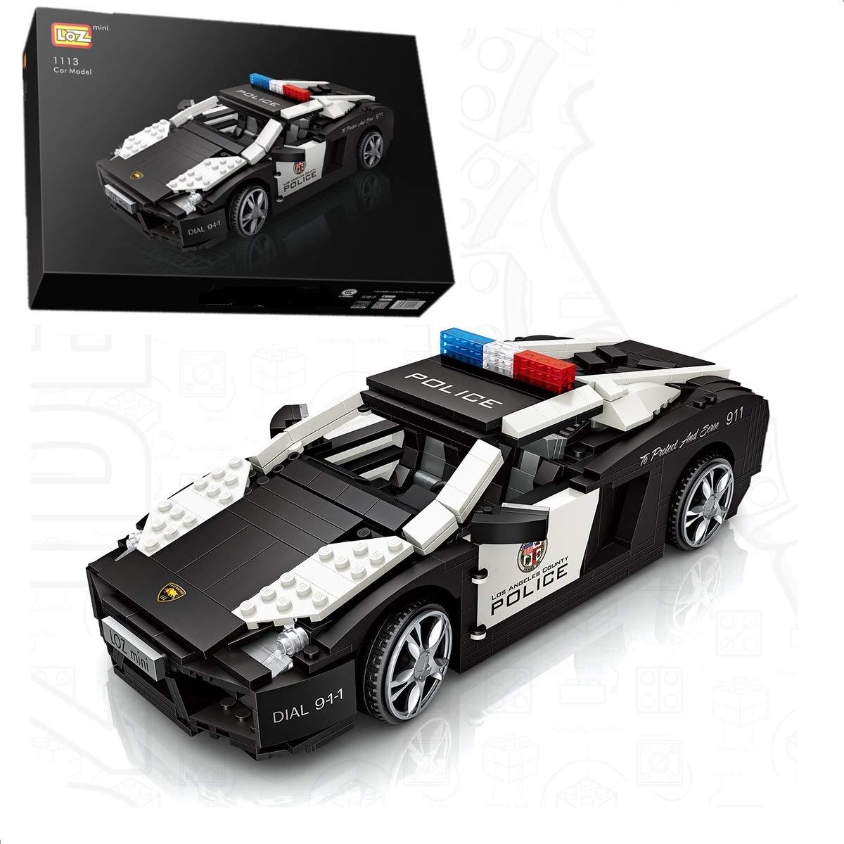 Amazon Com Loz Infunity Lamborghini Police Car Mini Blocks Speed