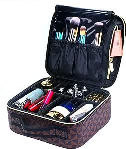 حقيبة السفر لمستحضرات التجميل لتنظيم مستحضرات التجميل مع فواصل قابلة للتعديل لمستحضرات التجميل وفرش أدوات الزينة والإكسسوارات الرقمية