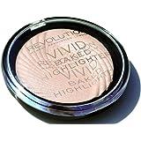 Makeup Revolution Highlighting Face Powder Vivid Baked Highlighter Peach Lights
