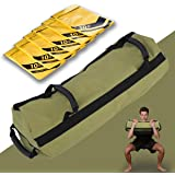 Golflame Workout Sandbag for Fitness 10 to 60 Lbs Heavy Duty Filler Bag,Exercise Sandbags,Military Sandbags,Training Weight Bags