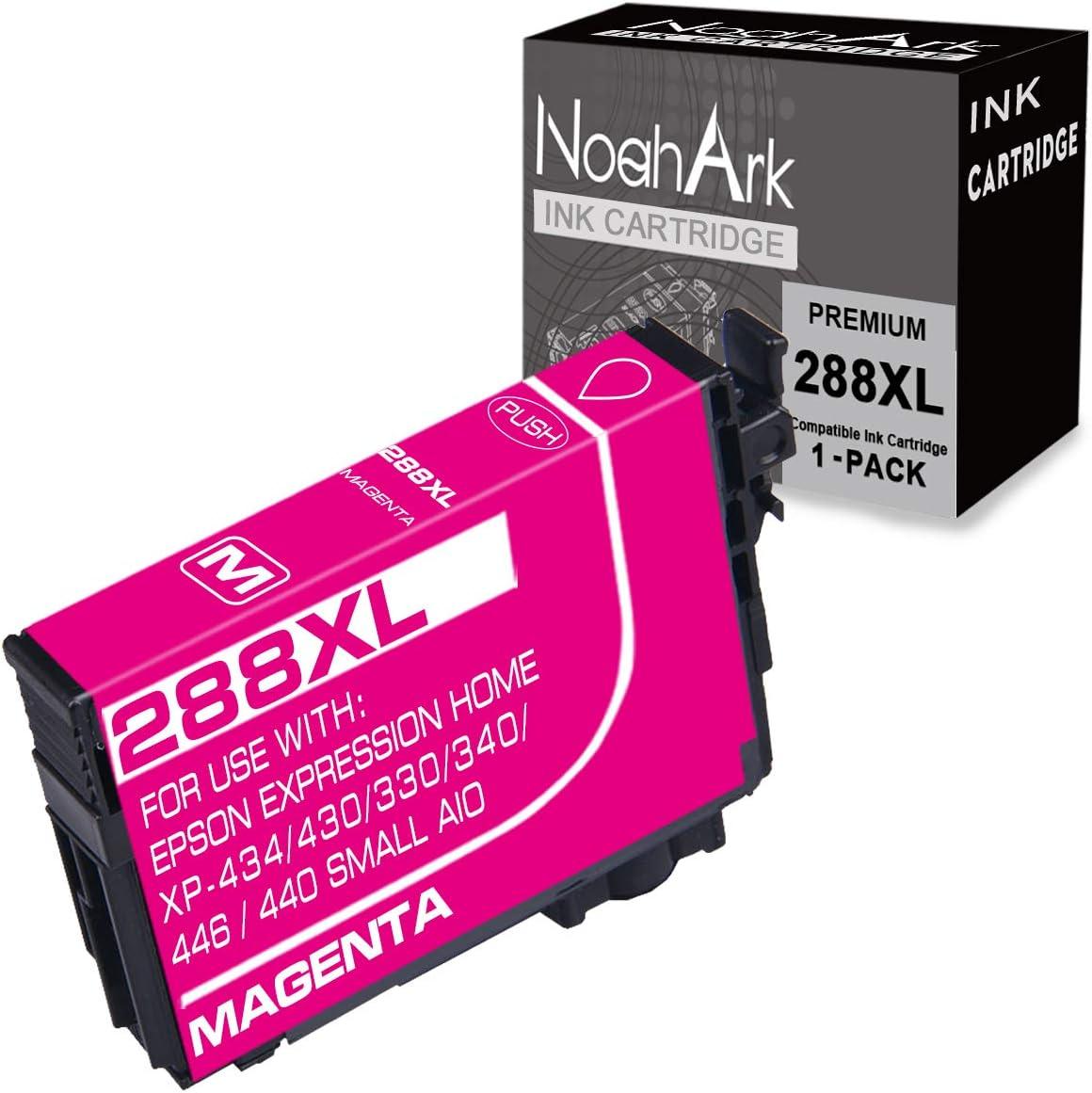 NoahArk 1 Packs 288XL Remanufacture Ink Cartridges Replacement for Epson 288 XL 288XL T288XL for Expression Home XP-430 XP-440 XP-330 XP-340 XP-434 XP-446 Printer (1 Magenta)