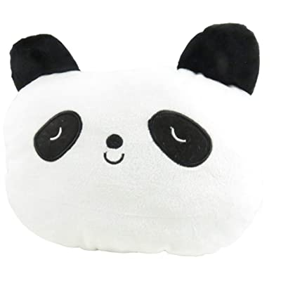 Daiso Adorable Panda Car Seat Neck Head Rest Pillow Pad 10 x 7.5 Inches White Black: Home & Kitchen